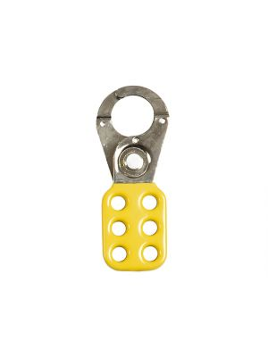 701 Lock Off Hasp 25mm Yellow
