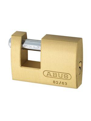 82/63mm Monoblock Brass Shutter Padlock Carded