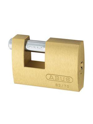 82/70mm Monoblock Brass Shutter Padlock