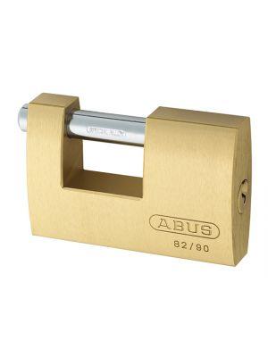 82/90mm Monoblock Brass Shutter Padlock Carded
