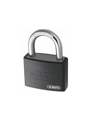T65AL/40mm My Lock Aluminium Padlock Black Keyed Alike 6401