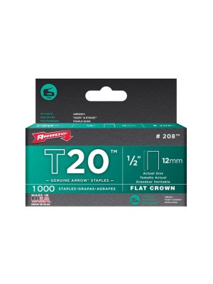 T20 Staples 12mm (1/2in) Box 1000
