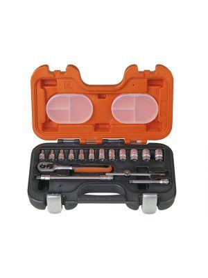 S160 Socket Set of 16 Metric 1/4in Drive