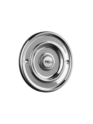 2207/P1BC Round Wired Bell Push Flush Fit Chrome