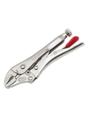 Curved Jaw Locking Pliers with Wire Cutter 127mm (5in)