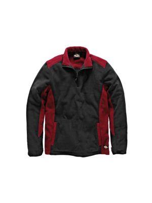 Two Tone Micro Fleece Red / Black - L (44-46in)