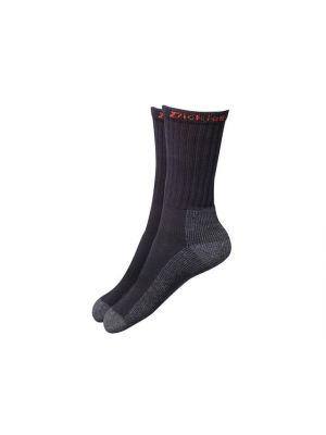 Industrial Work Socks, Black (Pack 2)