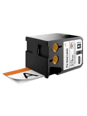 Pre-Sized Labels Black On White Orange Header 51 x 102mm (70)