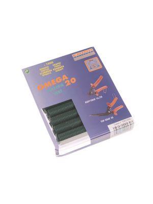 Green Coated Steel Hog Ring Omega 20(1000)