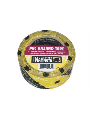 PVC Hazard Tape Black / Yellow 50mm x 33m