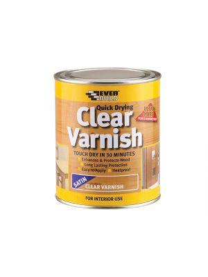 Quick Dry Wood Varnish Satin Clear 750ml