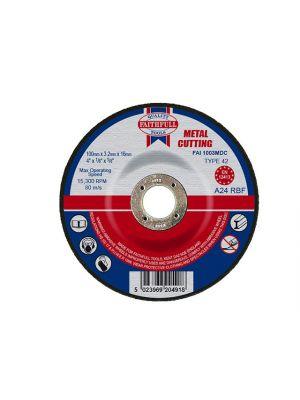 Depressed Centre Metal Cut Off Disc 100 x 3.2 x 16mm