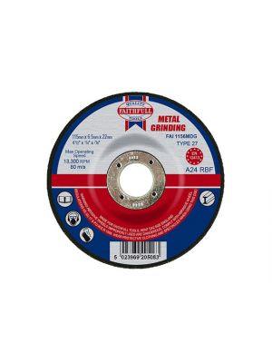 Depressed Centre Metal Grinding Disc 115 x 6.5 x 22mm