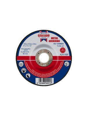 Depressed Centre Metal Grinding Disc 125 x 6.5 x 22mm