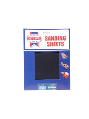 Alox Cloth Sheets 280 x 230mm Assorted Fine Medium & Coarse (3)