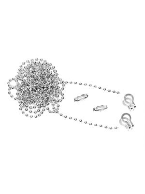 Brass Ball Chain Kit 1m Nickel Plated