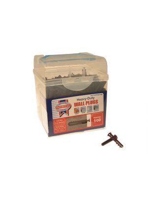 Heavy-Duty Wall Plug Brown Tub 500