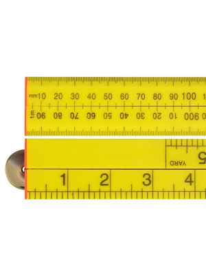 Folding Rule Yellow ABS Plastic 1m / 39in
