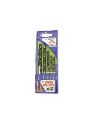 Lip & Spur Wood Drill Bit Set 5 Piece 4-10mm