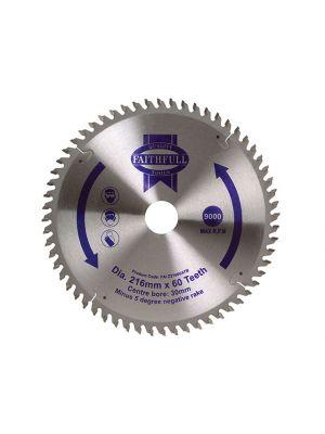 Circular Saw Blade 216 x 30mm x 60T NEG