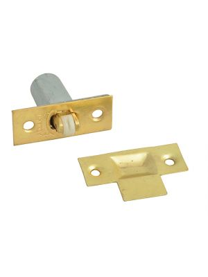 Adjustable Roller Catch - Brass Finish Pack of 2