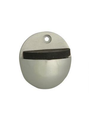 Oval Door Stop Aluminium 50mm