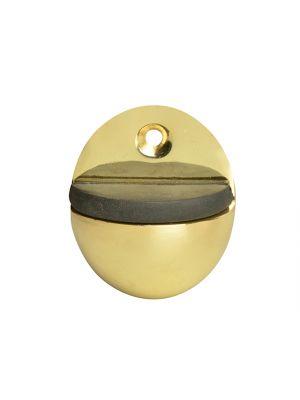 Oval Door Stop Brass Finish 40mm