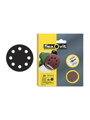 Hook & Loop Sanding Discs 115mm Fine 120g (Pack of 6)