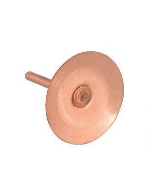 Copper Disc Rivets 20 x 20 x 1.5mm (Pack 100)