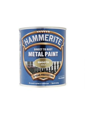 Direct to Rust Smooth Finish Metal Paint Gold 750ml