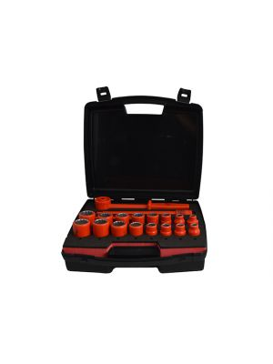 Insulated Socket Set of 19 1/2in Drive