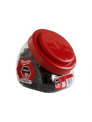 Impact Rated Magnetic Bit Holder Jar 100 Pieces