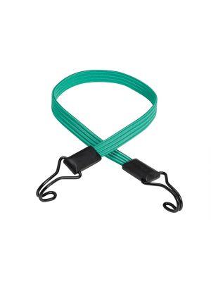 Flat Bungee 80cm Green Double Hook