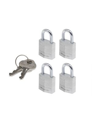 Aluminium 20mm Padlock 3-Pin - Keyed Alike x 4
