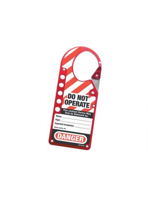 Snap-on Hasp Lockout Labelled