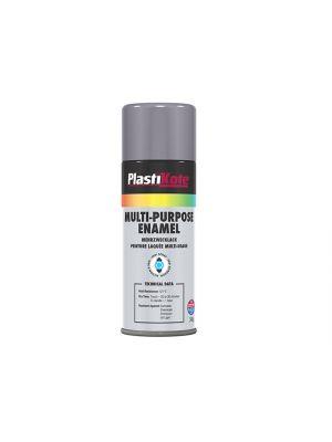 Multi Purpose Enamel Spray Paint Gloss Grey 400ml