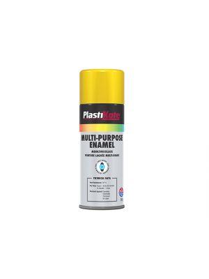 Multi Purpose Enamel Spray Paint Gloss Yellow 400ml