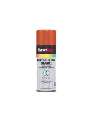 Multi Purpose Enamel Spray Paint Gloss Orange 400ml