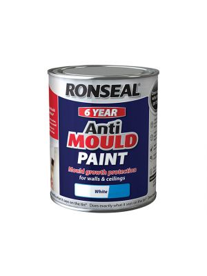 6 Year Anti Mould Paint White Silk 2.5 Litre
