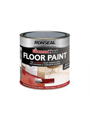 Diamond Hard Floor Paint Tile Red 2.5 Litre
