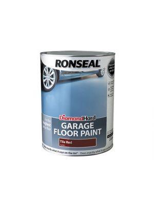 Diamond Hard Garage Floor Paint Tile Red 5 Litre