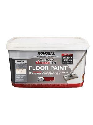 Diamond Hard Perfect Finish Floor Paint Pebblestone 2.5 Litre