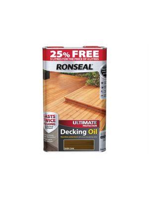 Ultimate Protection Decking Oil Dark Oak 4 Litre + 25%