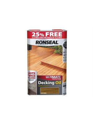 Ultimate Protection Decking Oil Natural 4 Litre + 25%