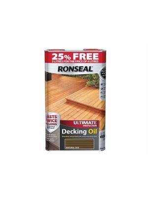 Ultimate Protection Decking Oil Natural Oak 4 Litre + 25%