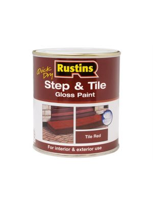 Quick Dry Step & Tile Paint Gloss Red 250ml