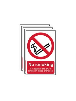 No Smoking In These Premises PVC 200 x 300mm
