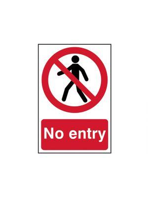 No Entry - PVC 200 x 300mm