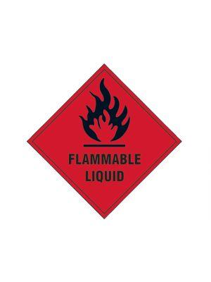 Flammable Liquid SAV - 100 x 100mm
