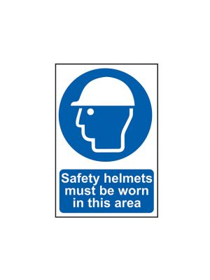 Safety Helmets Must Be Worn In This Area - PVC 400 x 600mm